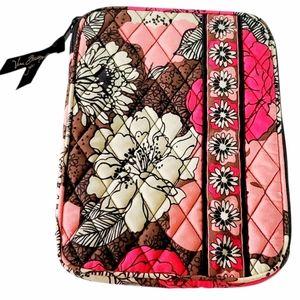 Vera Bradley Mocha Rouge Tablet Sleeve Case Floral
